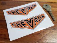 Chevron Cars Badge Darker Style Stickers. 4
