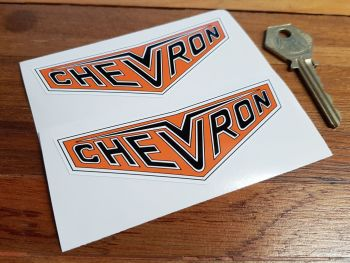 "Chevron Cars Badge Darker Style Stickers. 4"" Pair."