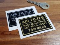"Royal Enfield Air Filter Sticker. 2.5""."