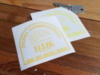 Fispa & Ferrari Fuel Filter Canister Sticker. 3