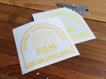 "Fispa & Ferrari Fuel Filter Canister Sticker. 3""."