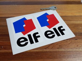 "Elf Classic Style Stickers. 1.5"", 2"", 3"", 4.5"", or 6.5"" Pair."