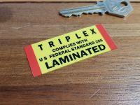 Triplex Laminated Windscreen Federal Standards Double Sided Glass Window Sticker 2.5