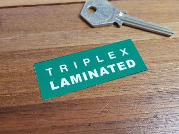 Triplex Laminated Windscreen Green Double Sided Glass Window Sticker 2.5""