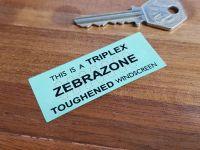 "Triplex Zebrazone Toughened Windscreen Double Sided Glass Window Sticker 2.5"""