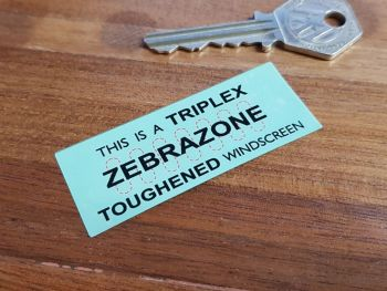 Triplex Zebrazone Toughened Windscreen Double Sided Glass Window Sticker 2.5""