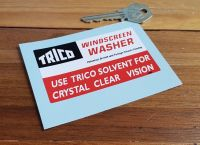 Trico Windscreen Washer Crystal Clear Vision Sticker. 85mm.
