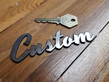 "Custom Script Style Self Adhesive Bike or Car Badge. 4.25""."
