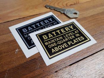 "Royal Enfield Battery Sticker. 2.5""."