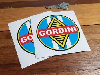 "Renault Gordini Round Lighter Style Stickers. 4"" Pair."