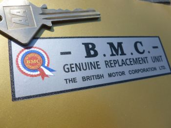 BMC Genuine Replacement Unit Gold Seal style works  engine rebuild sticker.
