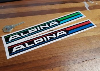 Alpina Logo Vinyl Blue & Green or Blue & Red Sticker 9.75""