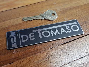 "De Tomaso Oblong Self-Adhesive Badge. 4.75""."