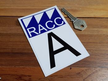 RACC Class A Rally Sticker. 4.5""