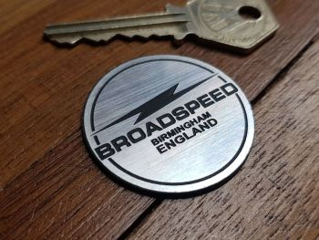 Broadspeed Birmingham England Style Self-Adhesive Steering Wheel Badge. 39mm.