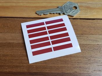 Latvia Latvian Flag Small Coloured Stickers. Set of 6. 25mm.