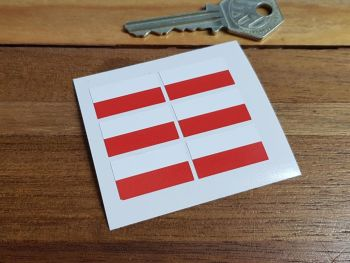 Poland Polish Flag Small Coloured Stickers. Set of 6. 25mm.