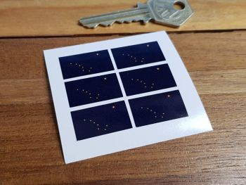 Alaskan Flag Small Coloured Stickers. Set of 6. 25mm.
