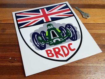 "BRDC Shield Shaped Sticker 8"""
