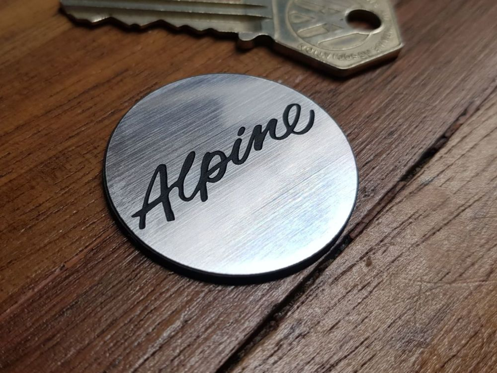Alpine Style Self-Adhesive Steering Wheel Badge. 39mm.