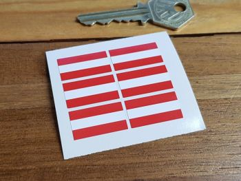 Austrian Flag Small Coloured Stickers. Set of 6. 25mm.