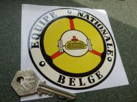 Equipe National Belge Old Style Car Sticker. 110mm.