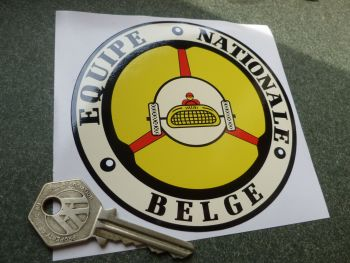 Equipe Nationale Belge Old Style Car Sticker. 110mm.