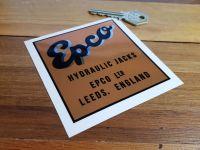 """Epco Hydraulic Jacks Sticker. 3.5""""."""