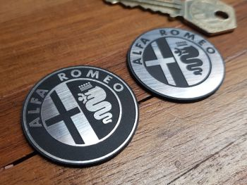 Alfa Romeo Style Self-Adhesive Steering Wheel Badge. 39mm.