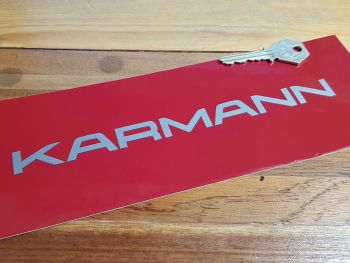 "Karmann Shaded Style Cut Text Stickers 8"" Pair"