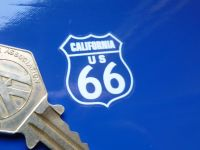 "Route 66 Full State Set White & Clear Stickers. 1"". Set of 10."