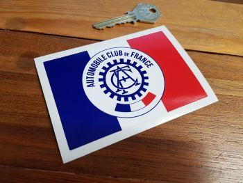 """ACF Automobile Club de France Oblong Sticker 4"""""""