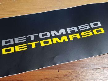 "De Tomaso Cut Vinyl Text Stickers 8"" Pair"