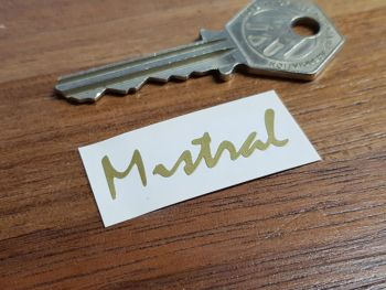 "Mistral Gold Script Stickers 1.5"" Pair"