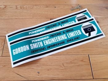 """Powermax Gordon Smith Engineering Stickers 15.75"""" Pair."""