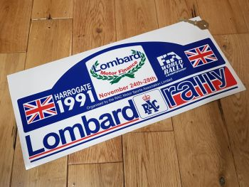 Lombard RAC Rally Harrogate 1991 Sticker 400mm