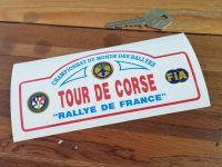 Tour De Corse Rallye De France Rally Plate Style Sticker. 6