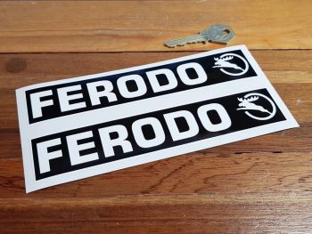 "Ferodo Old Stag Oblong Stickers. 7"" or 11"" Pair."