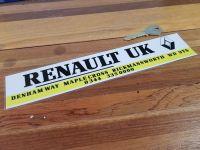 Renault Dealer Sticker Maplecross UK 10