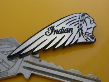 Indian Chief Long Headdress Motorcycle Pin Badge.