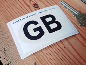 GB Off-White ID Plate Sticker 3""