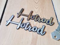 "Hot Rod Self Adhesive Car Badge 4.5"""