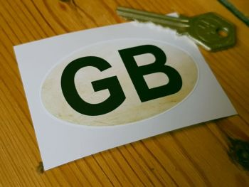 GB Distressed ID Plate Sticker 3""