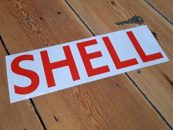 "Shell Capital Text Cut Vinyl Sticker 11"""