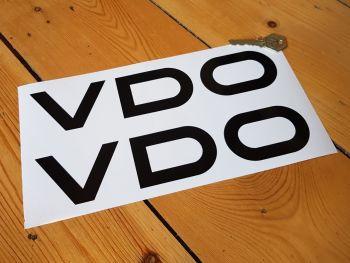 "VDO Cut Vinyl Stickers 10"" Pair"