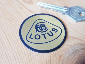 Lotus Old Style Gold Self Adhesive Car Badge 50mm