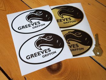 "Greeves Griffon Oval Stickers 4.75"" Pair"