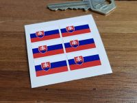Slovakia Flag Small Coloured Stickers. Set of 6. 25mm.