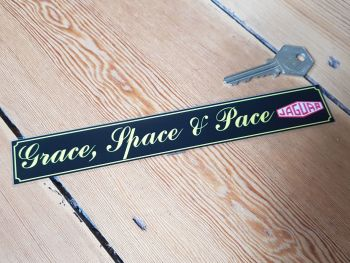 Grace, Space and Pace Jaguar Window Sticker 8""