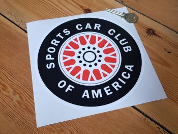 SCCA Red Middle Wheel Sticker 7""